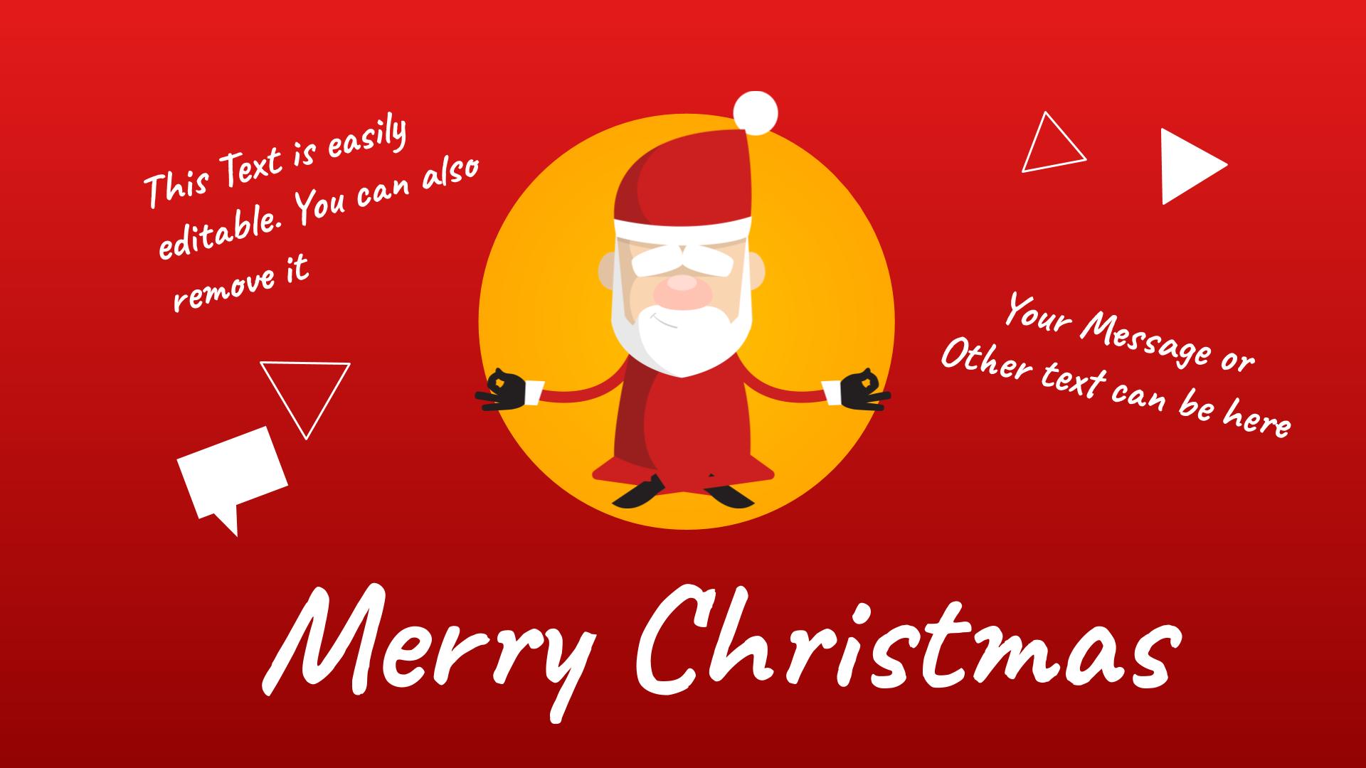Santa posing Yoga Google Drawings
